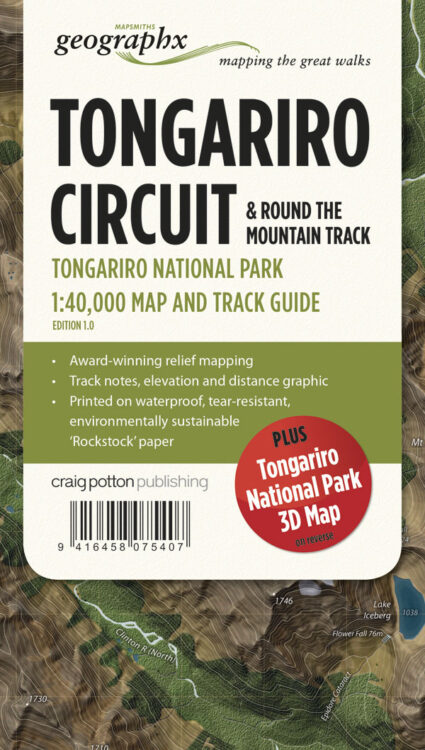 Tongariro Circuit Map