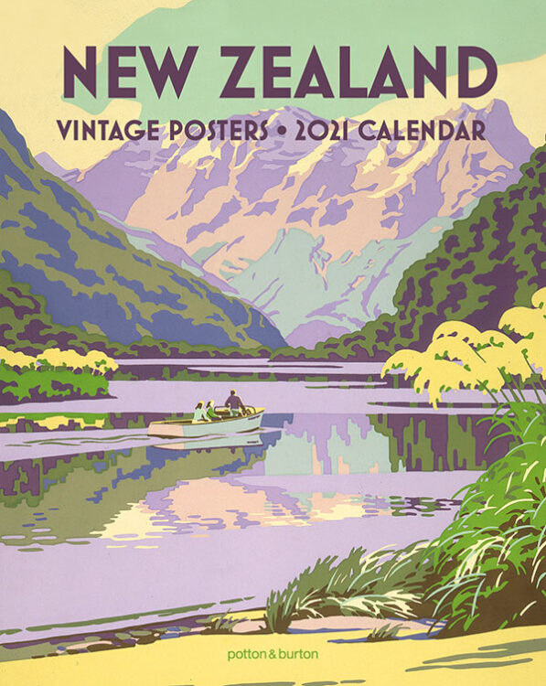 2021 New Zealand Vintage Posters Small Calendar