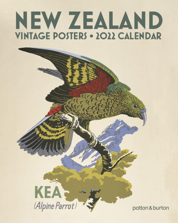 2022 New Zealand Vintage Posters Small Calendar